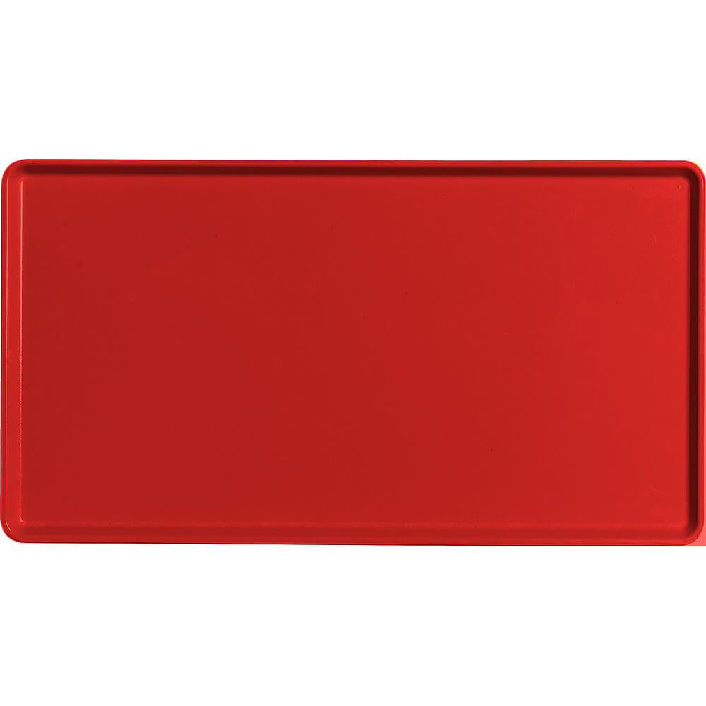 "Cambro Red, 12"" x 22"" Healthcare Food Trays, Low Profile, 12/PK"