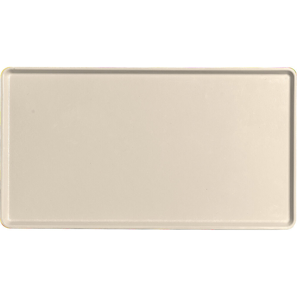 "Cameo Yellow, 12"" x 22"" Healthcare Food Trays, Low Profile, 12/PK"