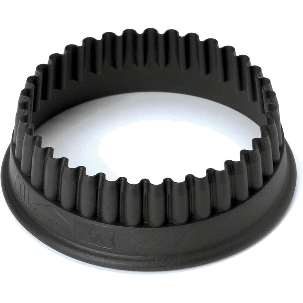 "Black, Composite Fiberglass Fluted Round Pa+ Cookie Cutter 2"""