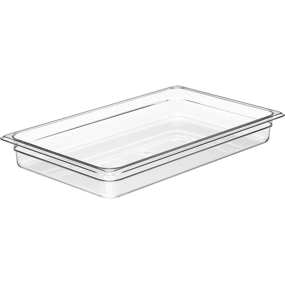 "Clear, 1/1 GN Food Pan, 2-1/2"" Deep, 6/PK"