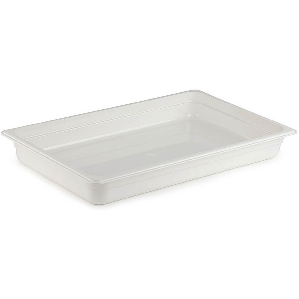 "White, 1/1 GN Food Pan, 2-1/2"" Deep, 6/PK"