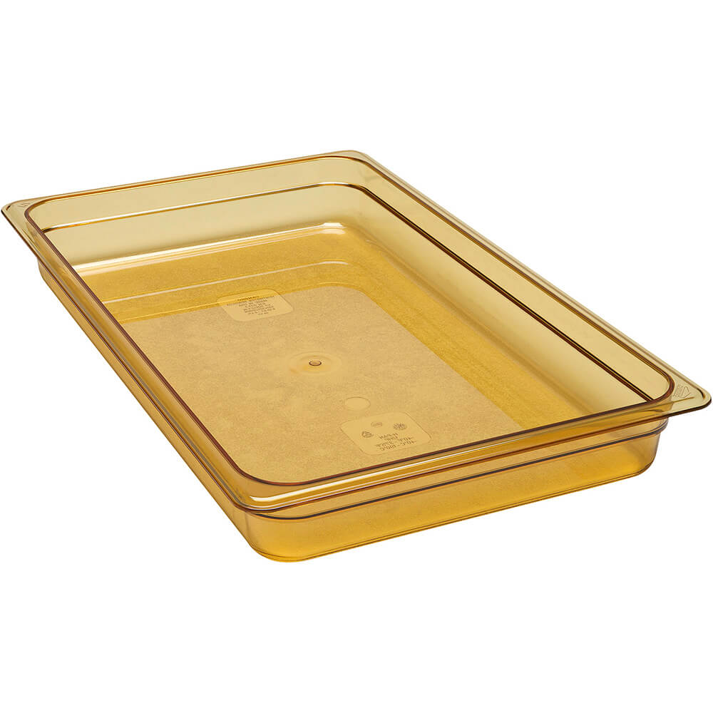 "Amber, 1/1 GN High Heat Food Pan, 2 1/2"" Deep, 6/PK"