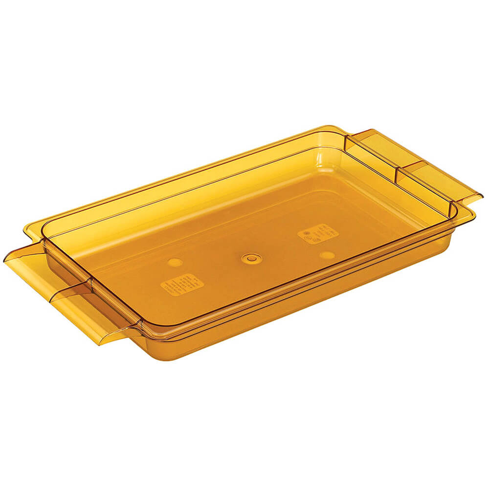 "Amber, 1/1 GN High Heat Food Pan W/ Handles, 2 1/2"" Deep, 6/PK"