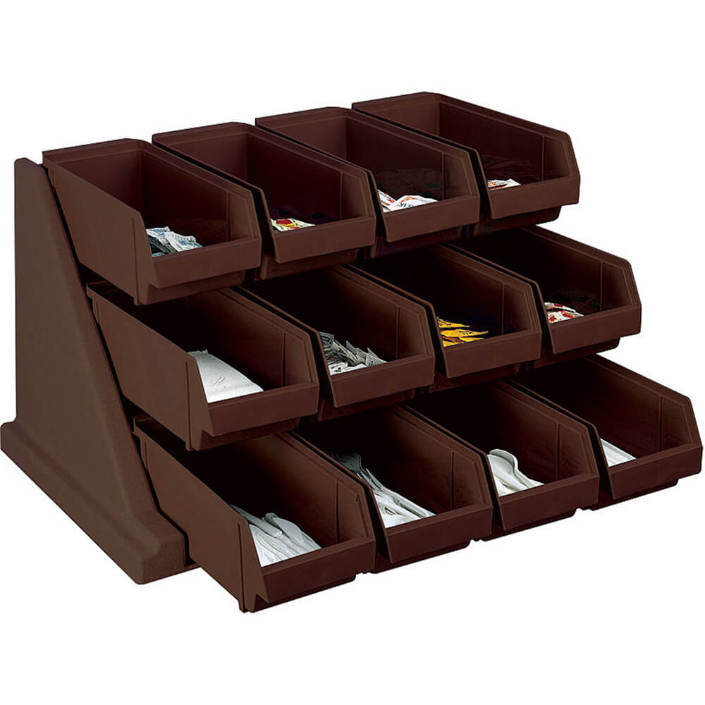 Dark Brown, Condiment Holder with 12 Bins