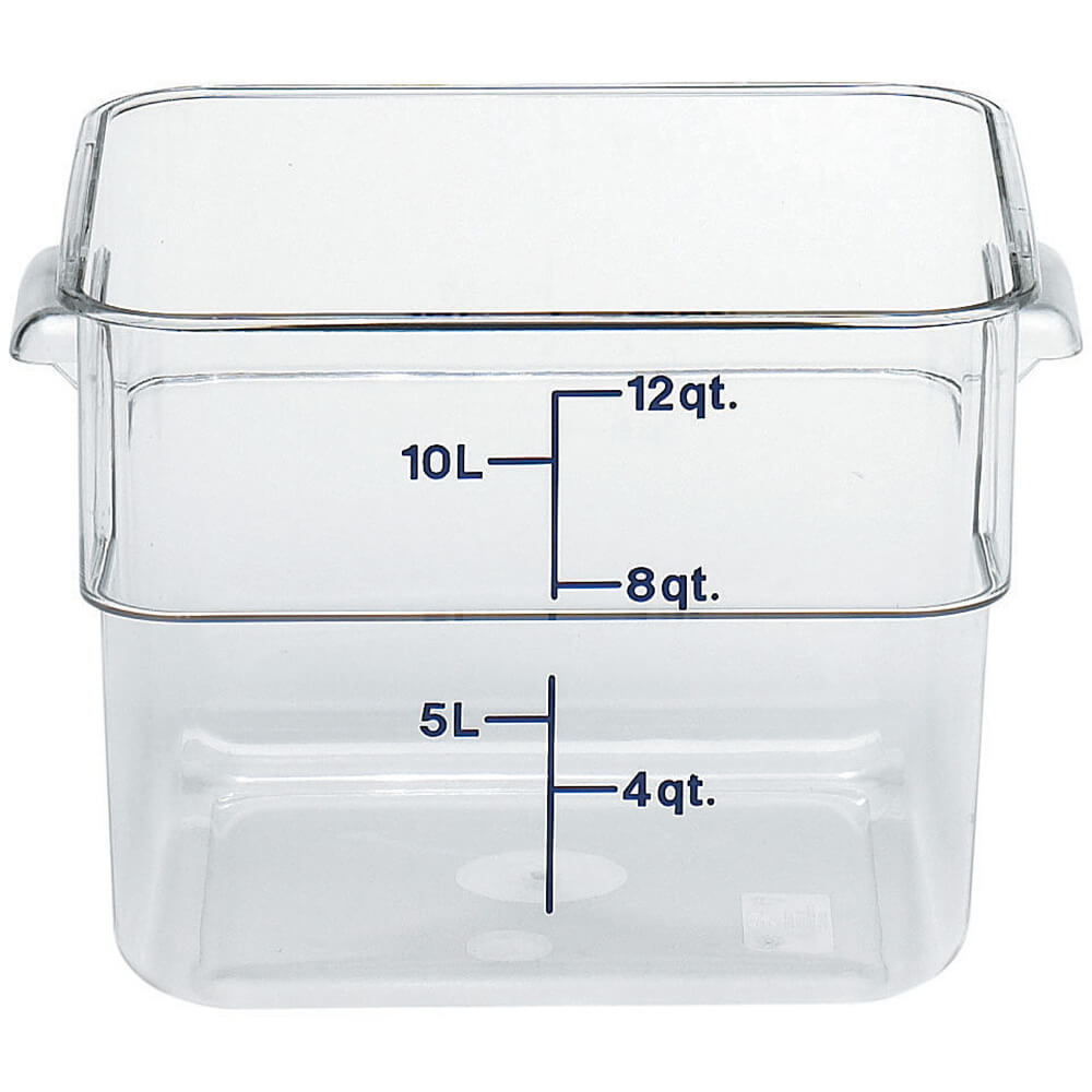 Clear, 12 Qt. CamSquare Food Storage Containers, 6/PK