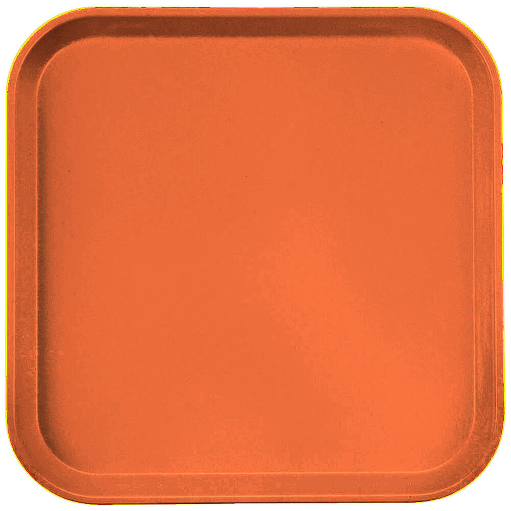 "Citrus Orange, 13"" x 13"" (33x33 cm) Trays, 12/PK"