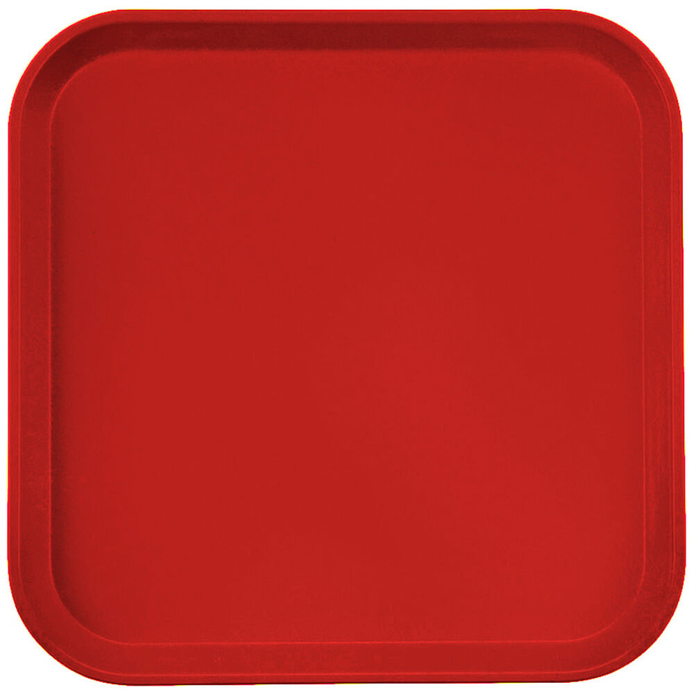"Cambro Red, 13"" x 13"" (33x33 cm) Trays, 12/PK"