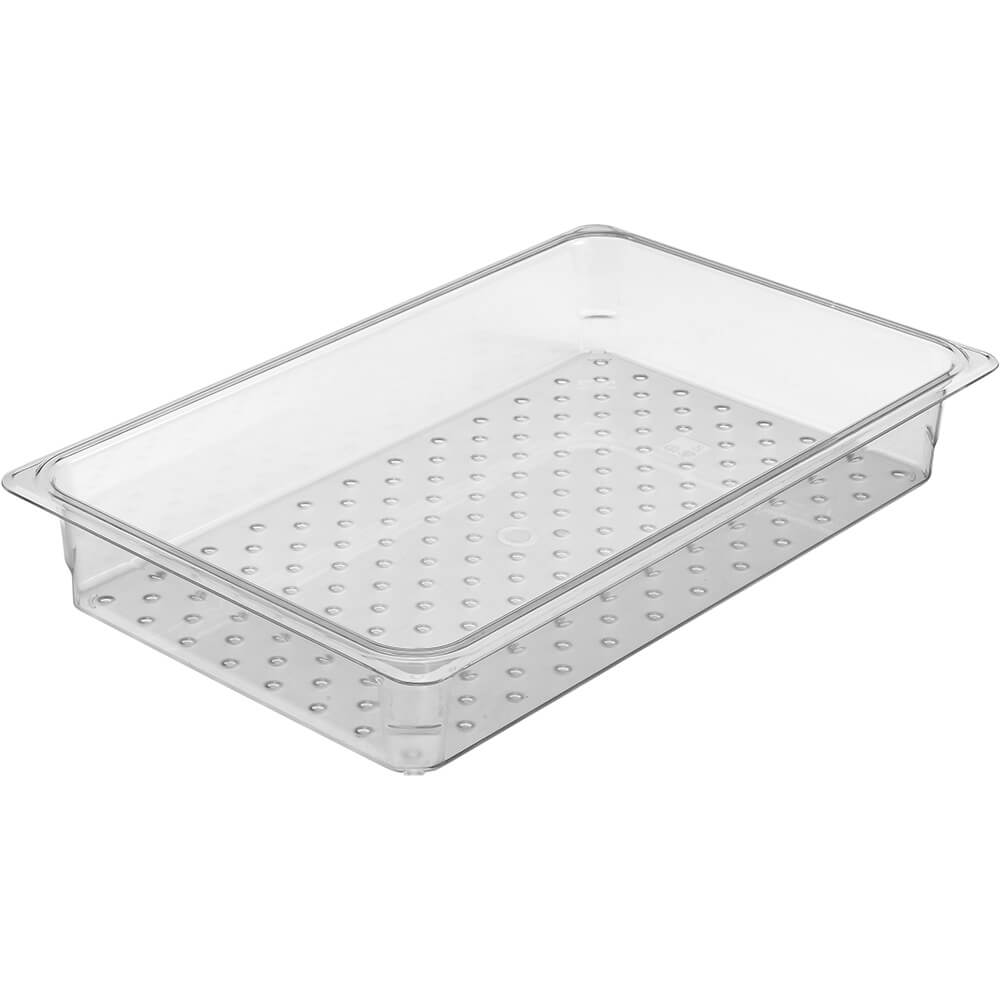 "Clear, Perforated Pan / Colander, GN 1/1, 3"" Deep, 6/PK"
