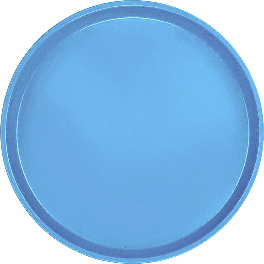 "Horizon Blue, 13"" Round Serving Tray, Fiberglass, 12/PK"