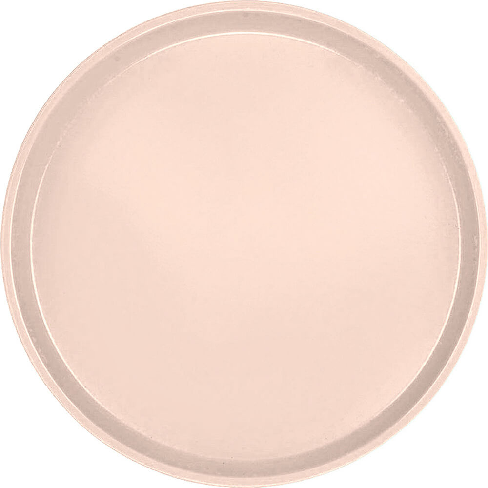"Light Peach, 16"" Low Profile Round Serving Tray, Fiberglass, 12/PK"