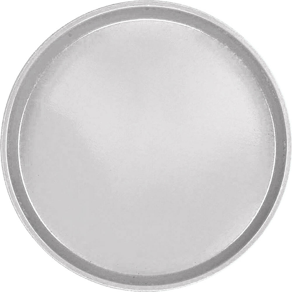 "Pearl Gray, 16"" Low Profile Round Serving Tray, Fiberglass, 12/PK"