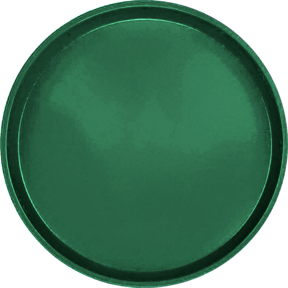 "Sherwood Green, 14"" Round Serving Tray, Fiberglass, 12/PK"