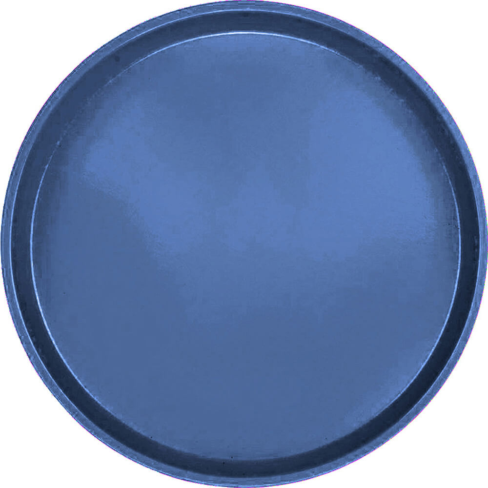 "Amazon Blue, 14"" Round Serving Tray, Fiberglass, 12/PK"