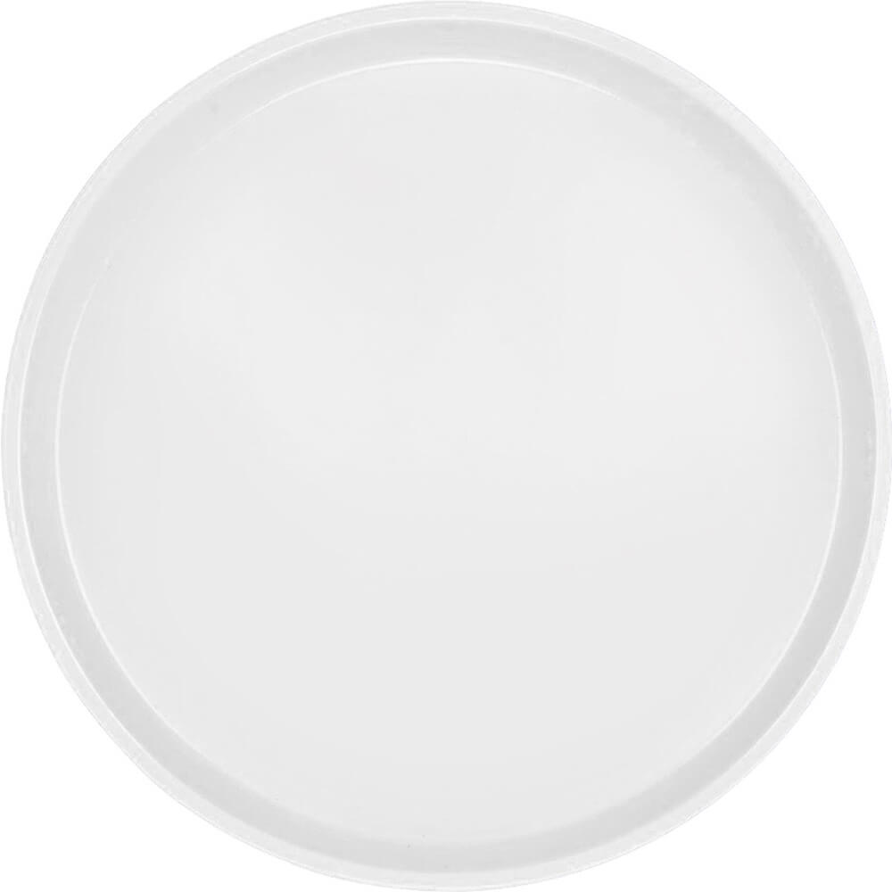 "White, 14"" Round Serving Tray, Fiberglass, 12/PK"