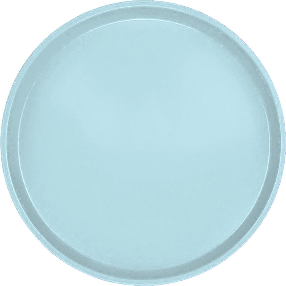 """Sky Blue, 14"""" Round Serving Tray, Fiberglass, 12/PK"""