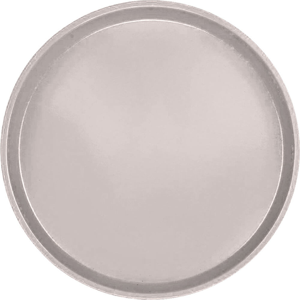"Taupe, 16"" Low Profile Round Serving Tray, Fiberglass, 12/PK"