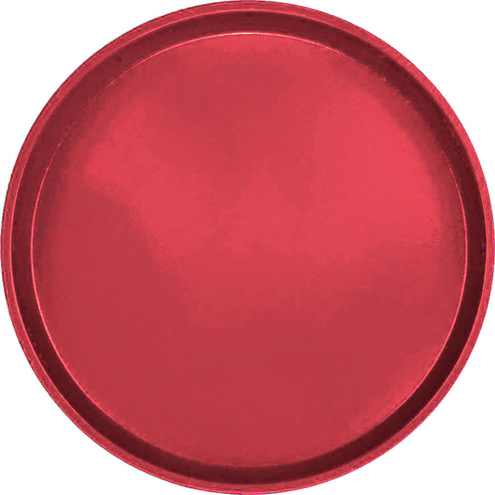 "Ever Red, 16"" Low Profile Round Serving Tray, Fiberglass, 12/PK"