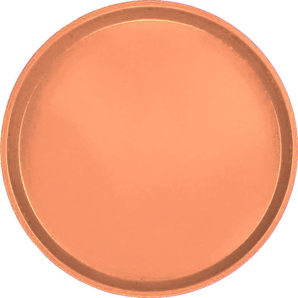 "Orange Pizazz, 13"" Round Serving Tray, Fiberglass, 12/PK"