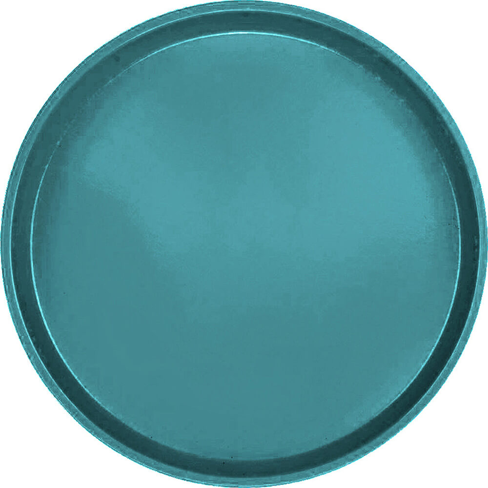 "Slate Blue, 13"" Round Serving Tray, Fiberglass, 12/PK"