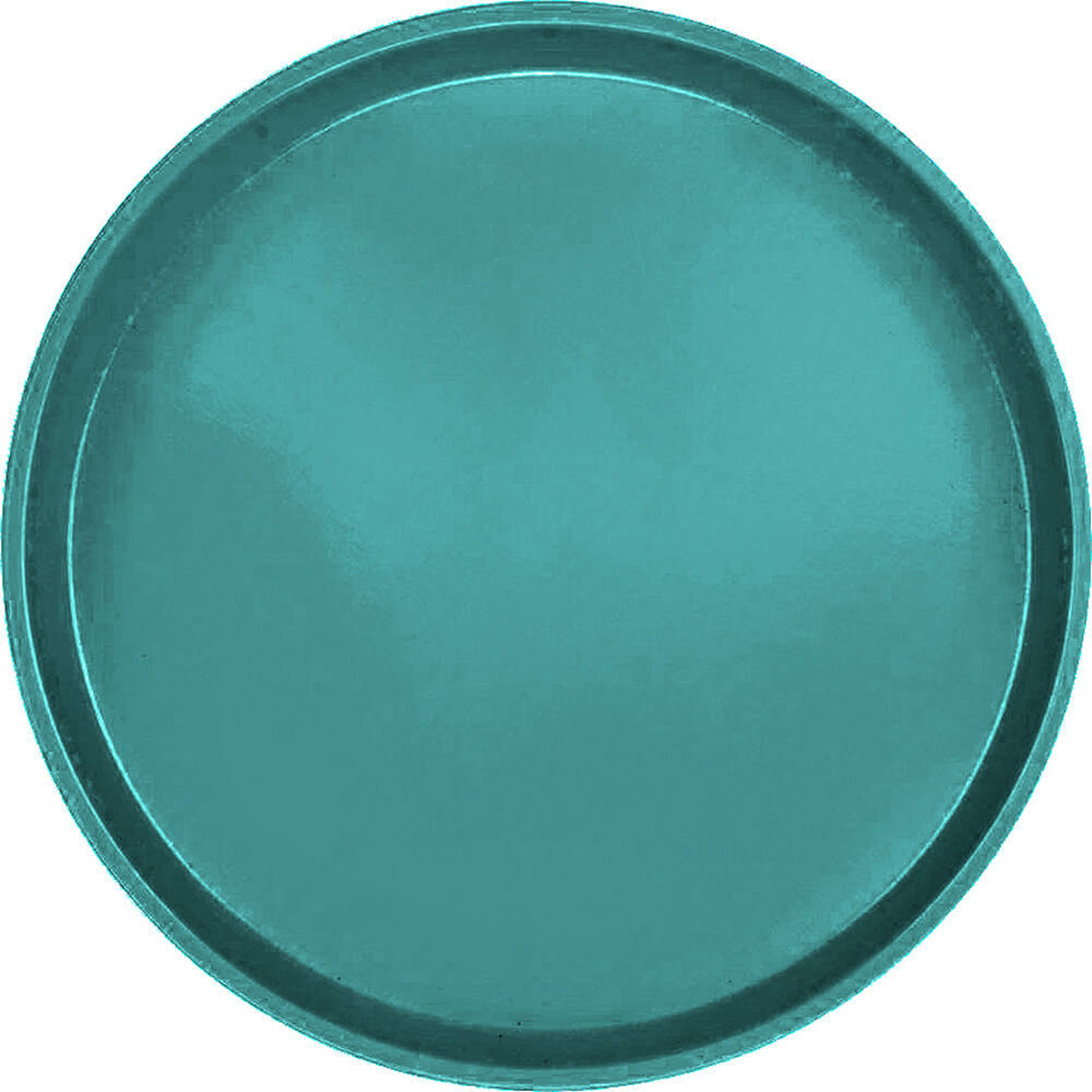 "Teal, 16"" Low Profile Round Serving Tray, Fiberglass, 12/PK"