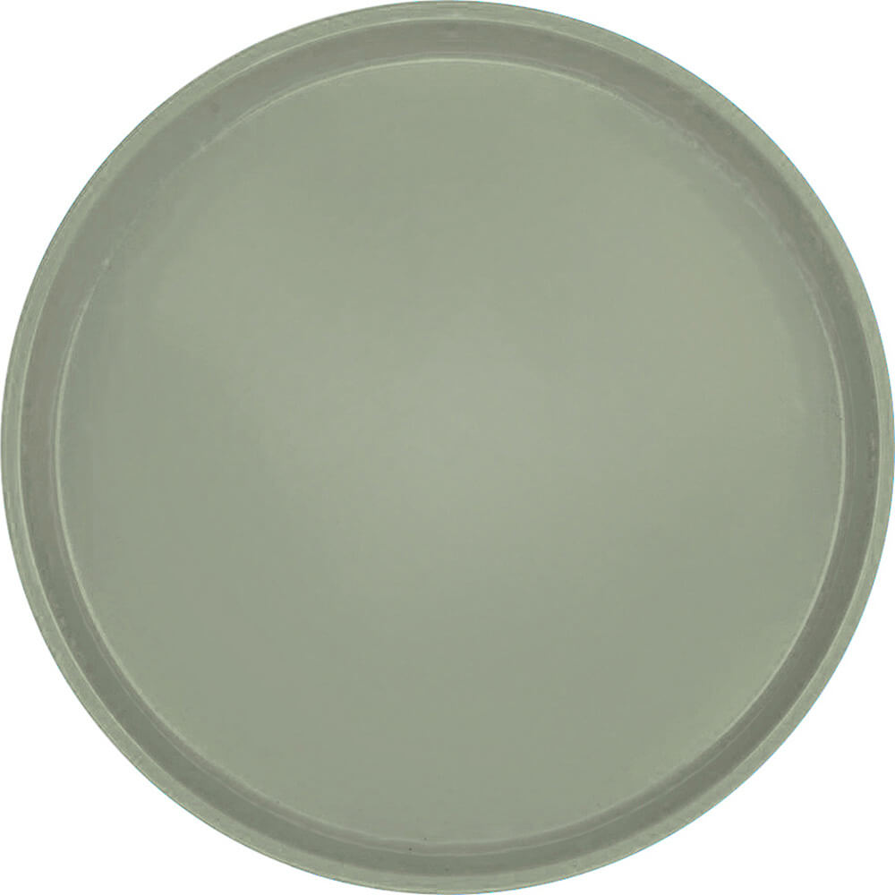"Olive Green, 16"" Low Profile Round Serving Tray, Fiberglass, 12/PK"