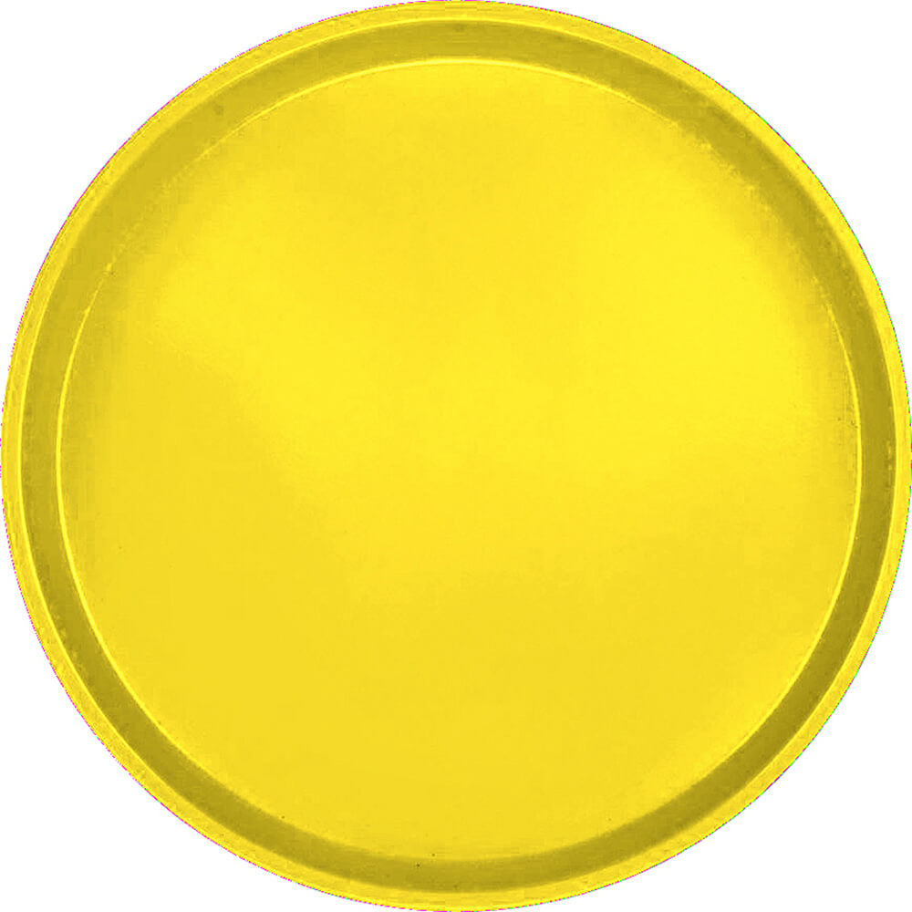 "Mustard, 16"" Low Profile Round Serving Tray, Fiberglass, 12/PK"