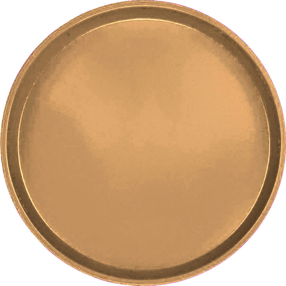 "Suede Brown, 16"" Low Profile Round Serving Tray, Fiberglass, 12/PK"
