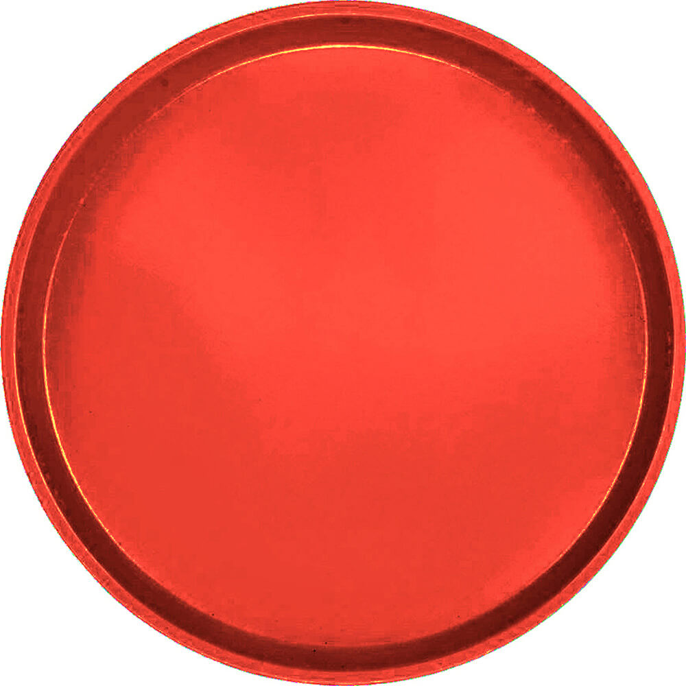 "Signal Red, 16"" Low Profile Round Serving Tray, Fiberglass, 12/PK"