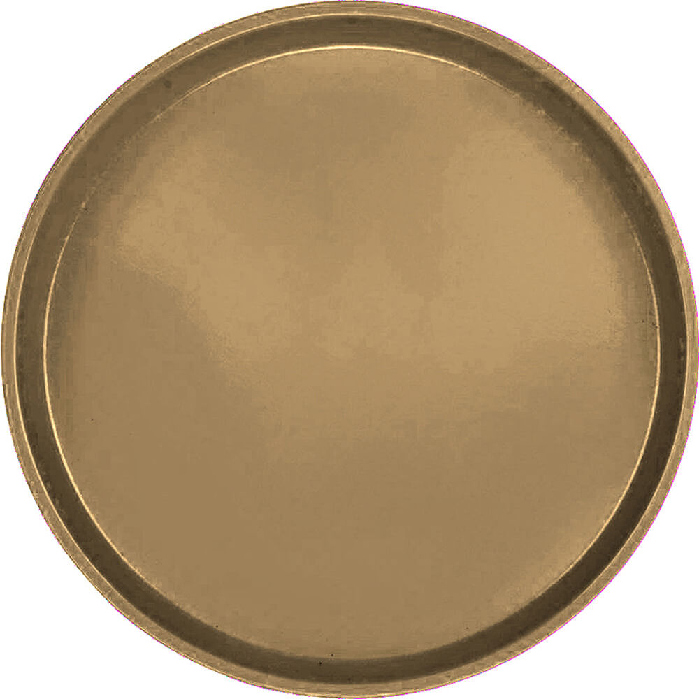 "Bay Leave Brown, 13"" Round Serving Tray, Fiberglass, 12/PK"