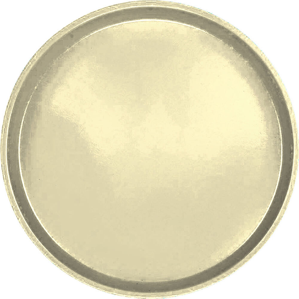 "Lemon Chiffon, 16"" Low Profile Round Serving Tray, Fiberglass, 12/PK"