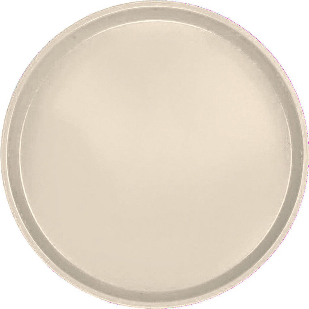 "Cameo Yellow, 16"" Low Profile Round Serving Tray, Fiberglass, 12/PK"