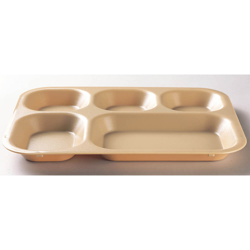 Beige, 5-Compartment Polycarbonate Cafeteria Trays, 24/PK View 2
