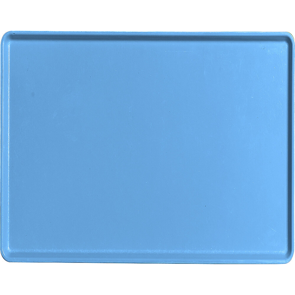 "Horizon Blue, 14"" x 18"" Healthcare Food Trays, Low Profile, 12/PK"