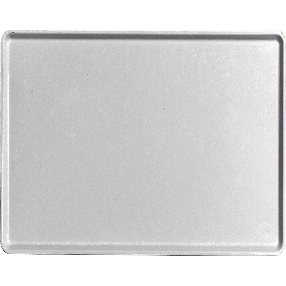 "Pearl Gray, 14"" x 18"" Healthcare Food Trays, Low Profile, 12/PK"