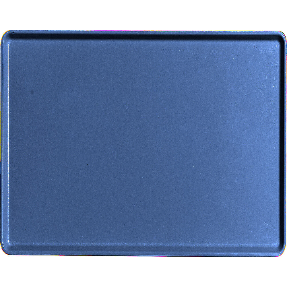 "Amazon Blue, 14"" x 18"" Healthcare Food Trays, Low Profile, 12/PK"