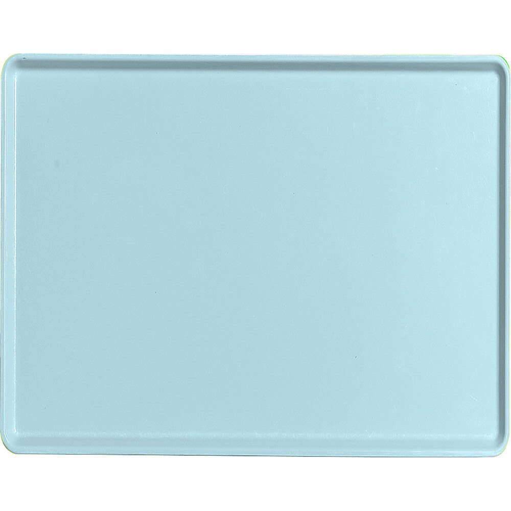 "Sky Blue, 14"" x 18"" Healthcare Food Trays, Low Profile, 12/PK"