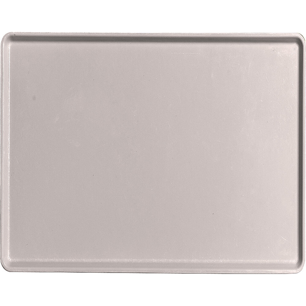 "Taupe, 14"" x 18"" Healthcare Food Trays, Low Profile, 12/PK"