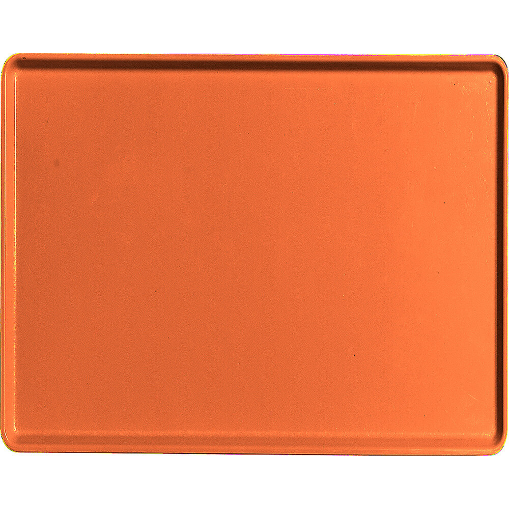 "Citrus Orange, 14"" x 18"" Healthcare Food Trays, Low Profile, 12/PK"