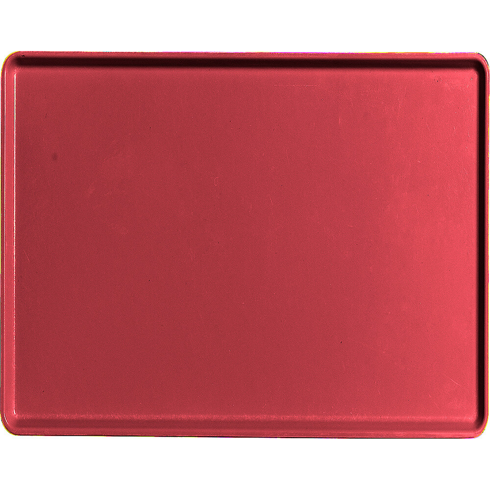 "Ever Red, 14"" x 18"" Healthcare Food Trays, Low Profile, 12/PK"