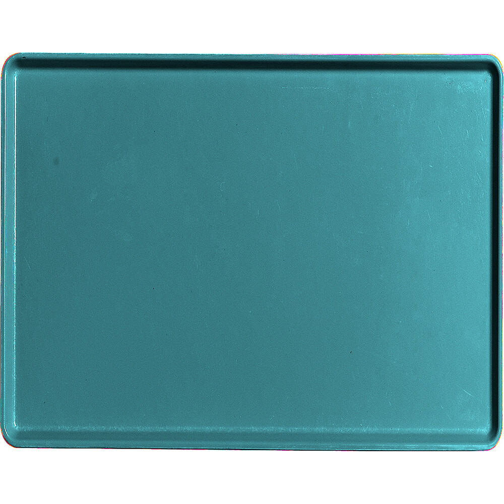 "Slate Blue, 14"" x 18"" Healthcare Food Trays, Low Profile, 12/PK"