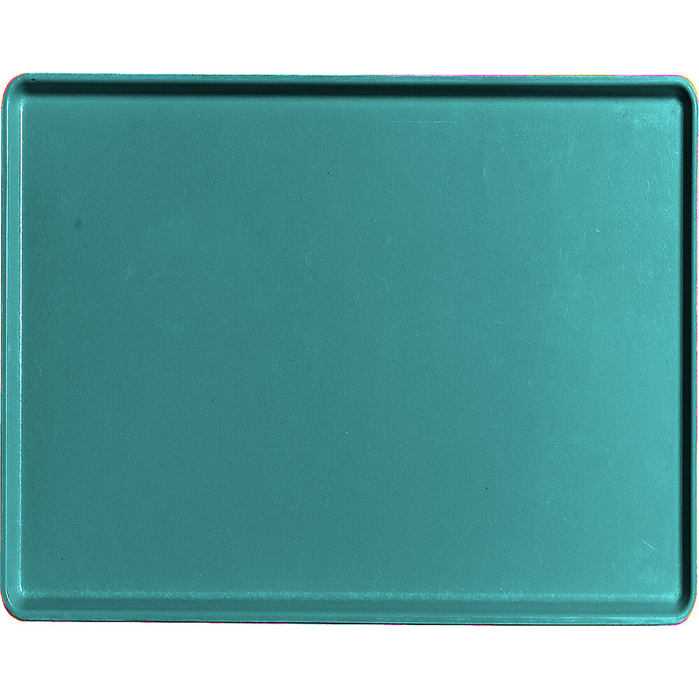 "Teal, 14"" x 18"" Healthcare Food Trays, Low Profile, 12/PK"