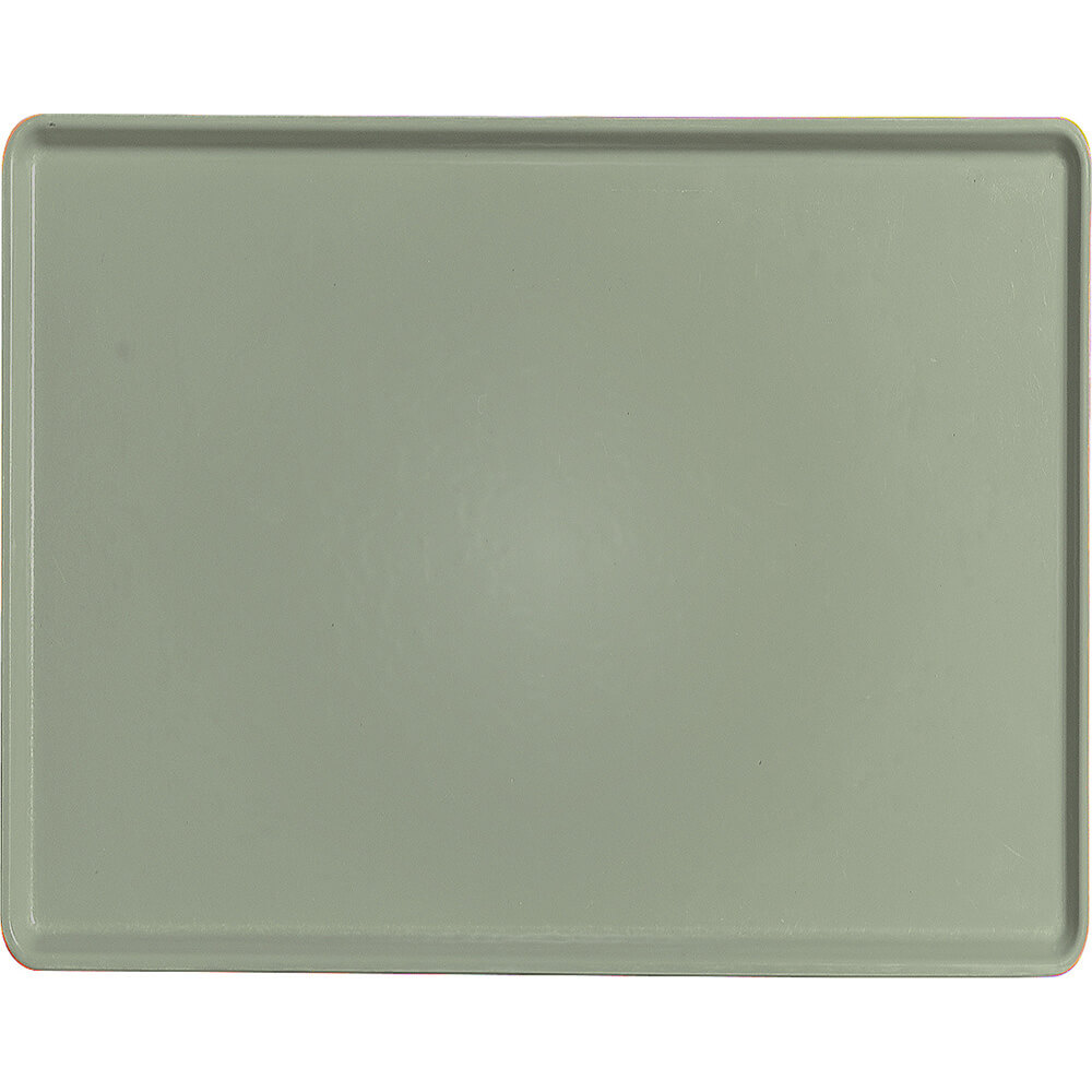 "Olive Green, 14"" x 18"" Healthcare Food Trays, Low Profile, 12/PK"