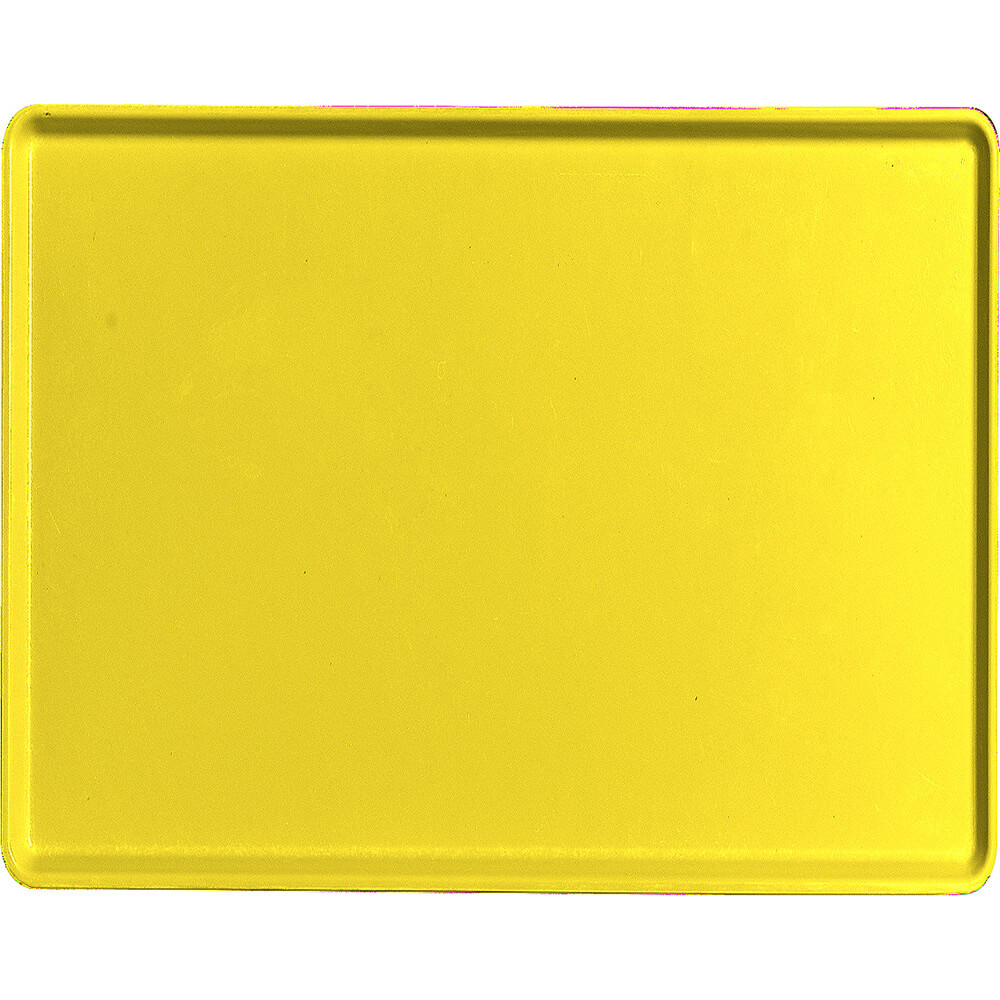 "Mustard, 14"" x 18"" Healthcare Food Trays, Low Profile, 12/PK"