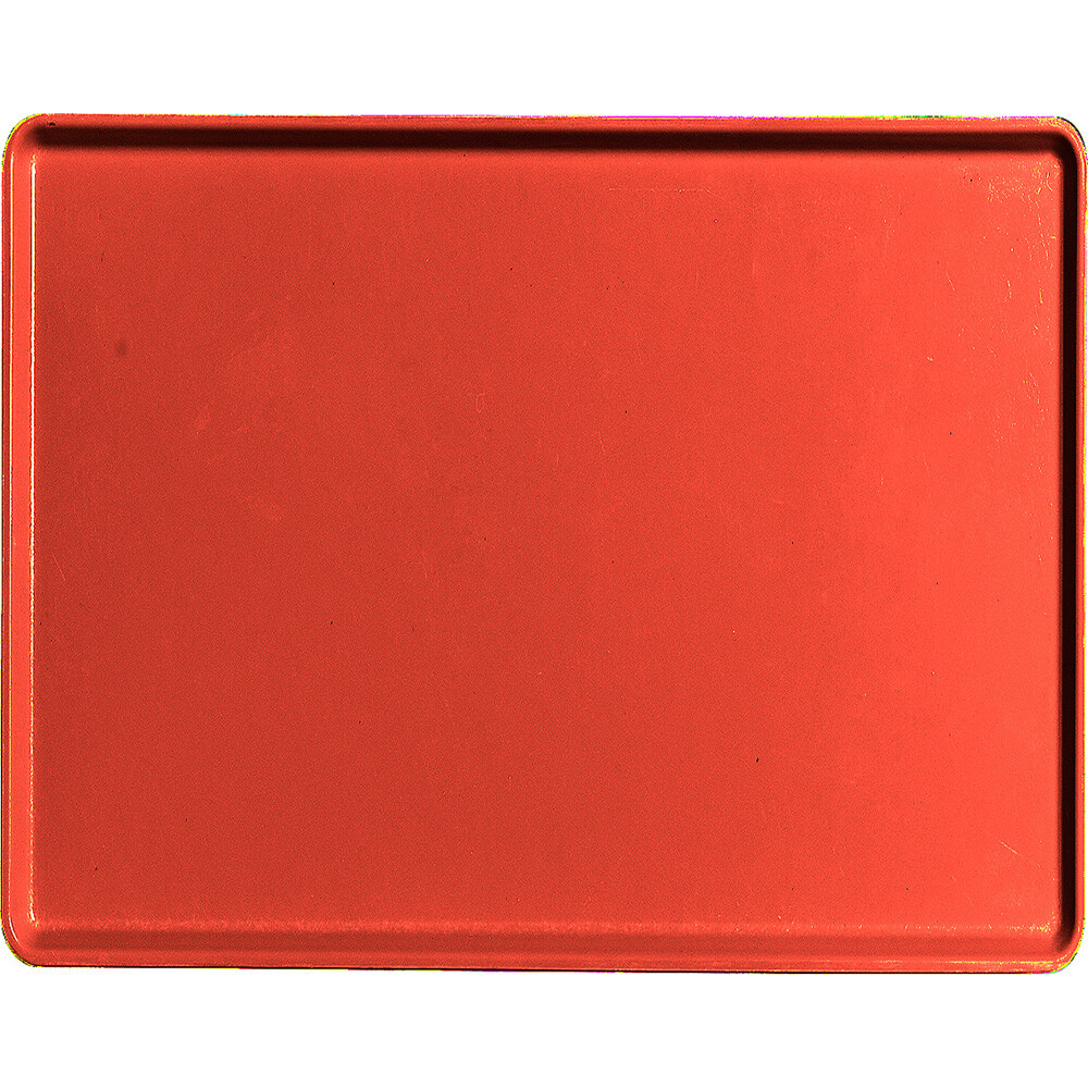 "Signal Red, 14"" x 18"" Healthcare Food Trays, Low Profile, 12/PK"
