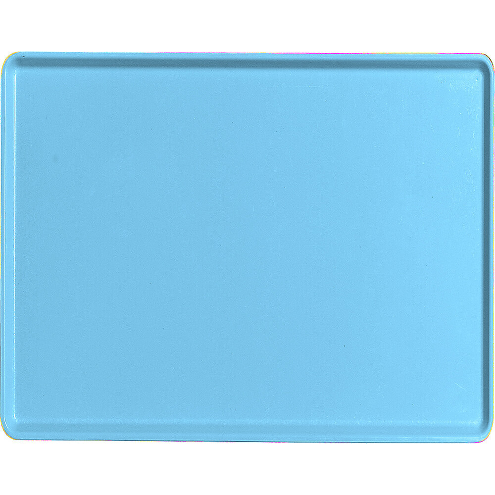 "Robin Egg Blue, 14"" x 18"" Healthcare Food Trays, Low Profile, 12/PK"