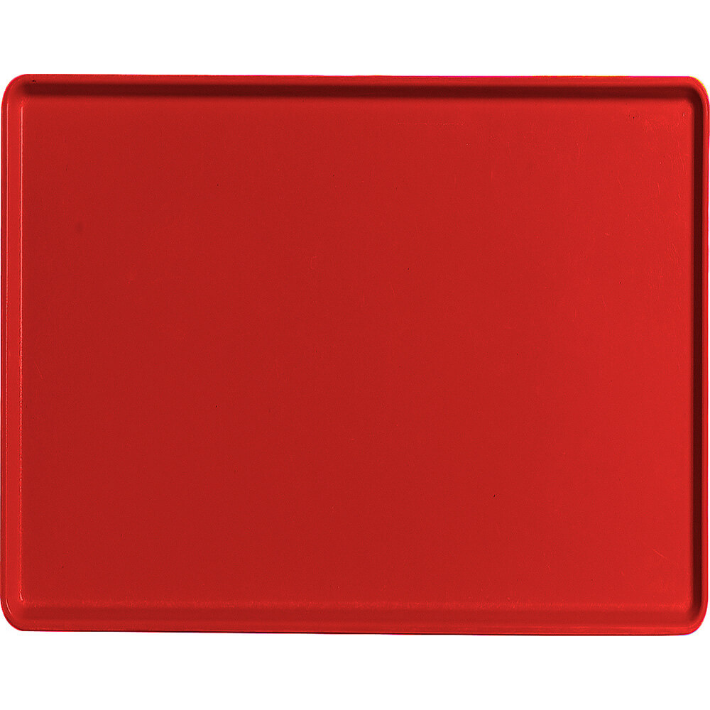 "Cambro Red, 14"" x 18"" Healthcare Food Trays, Low Profile, 12/PK"