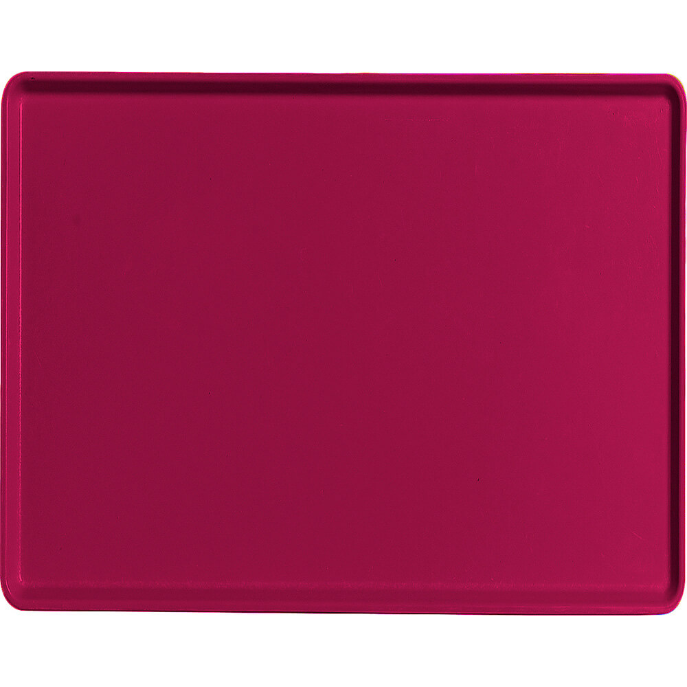 "Burgundy Wine, 14"" x 18"" Healthcare Food Trays, Low Profile, 12/PK"