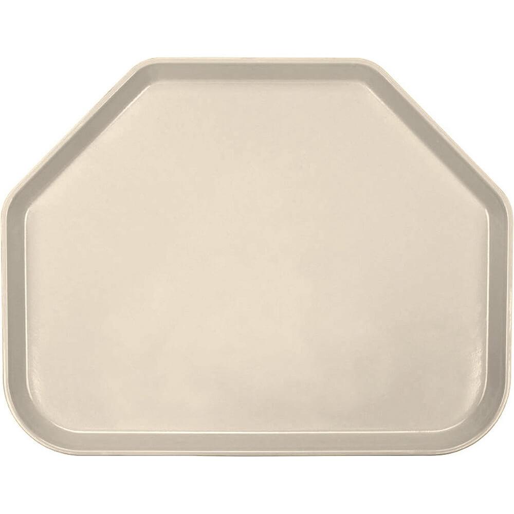 "Desert Tan, 14""x18"" Trapezoid Food Trays, Fiberglass, 12/PK"