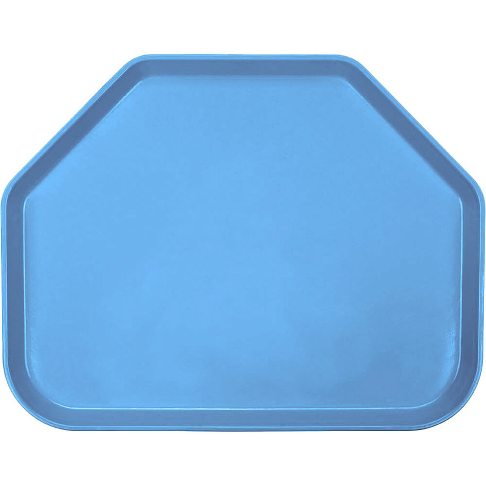 "Horizon Blue, 14""x18"" Trapezoid Food Trays, Fiberglass, 12/PK"