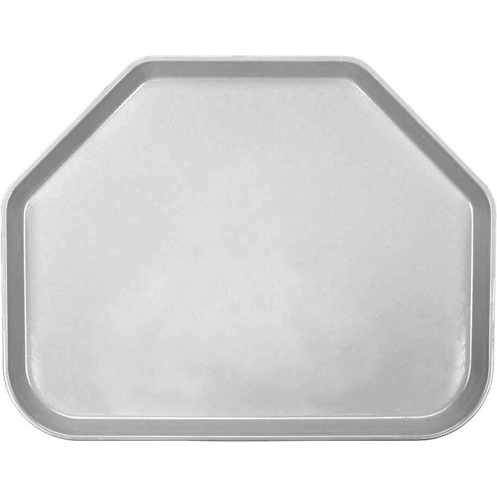 """Pearl Gray, 14""""x18"""" Trapezoid Food Trays, Fiberglass, 12/PK"""